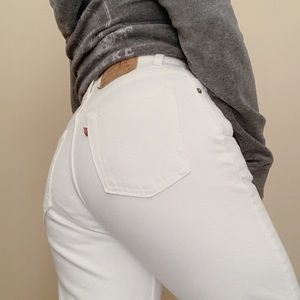 Vintage Levi's 551 White High Waisted Jeans